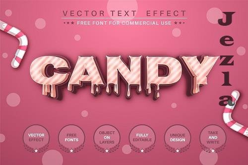 Candy - editable text effect - 6219586