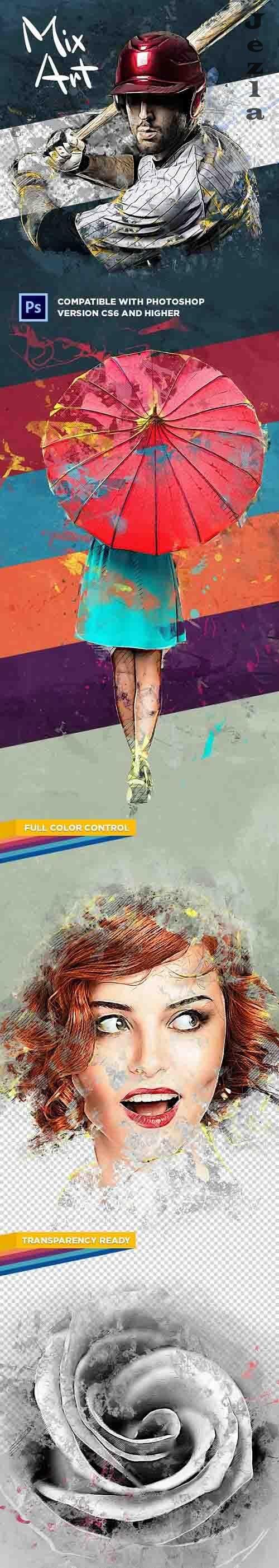 Mix Art CS6+ Photoshop Action - 31305951