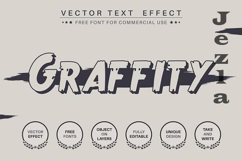 Dark Graffiti - editable text effect - 6220203