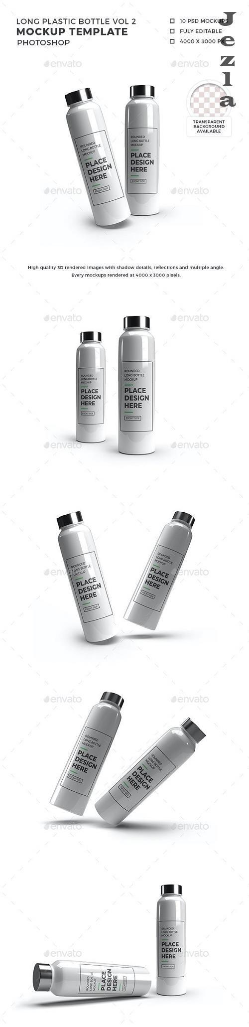Long Rounded Plastic Bottle Mockup Vol 2 - 32564147