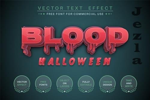 Blood Halloween editable text effect - 6220490
