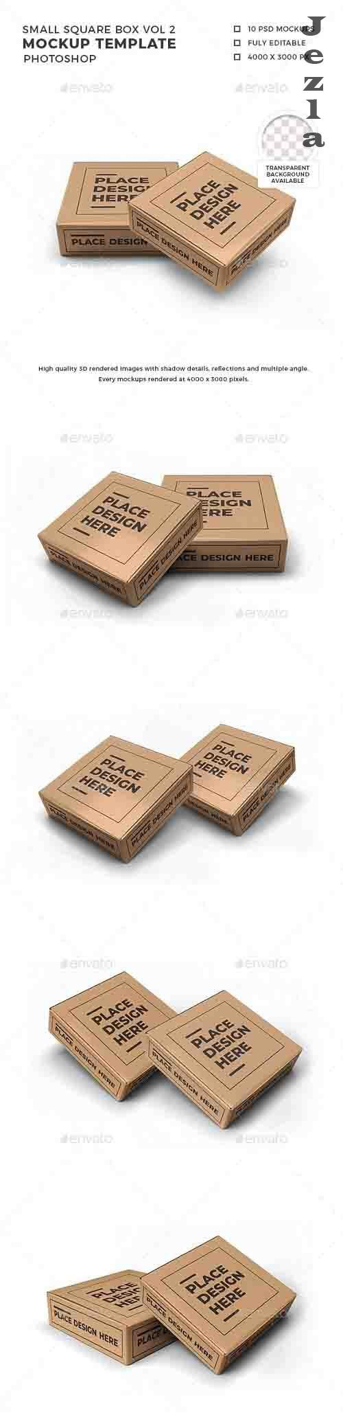 Small Square Box Mockup Template Vol 2 - 32570172