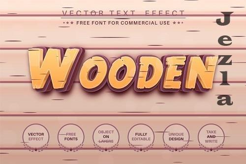 Wood craftsmans editable text effect - 6221388