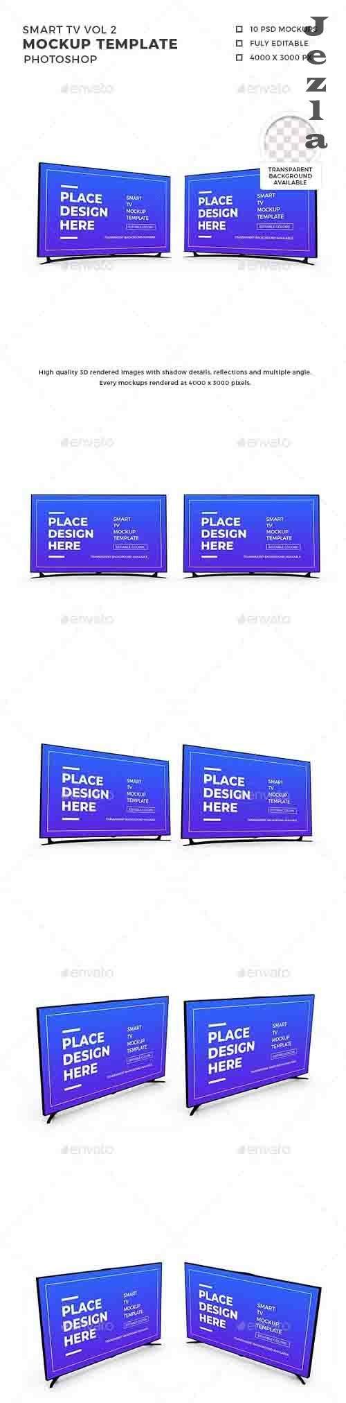 Smart TV 3D Mockup Template Vol 2 - 32579111