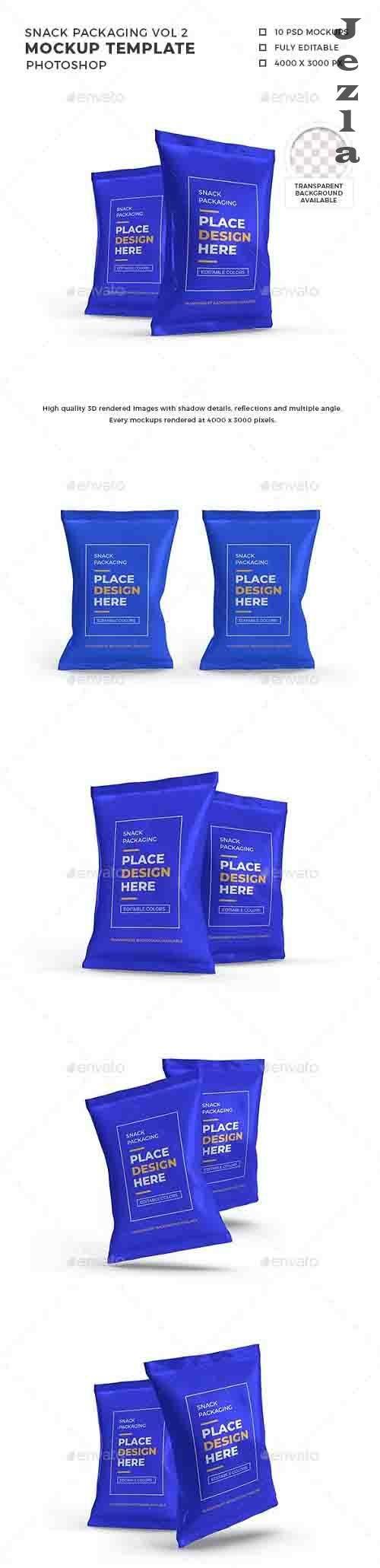 Snack Packaging Mockup Template Vol 2 - 32584108