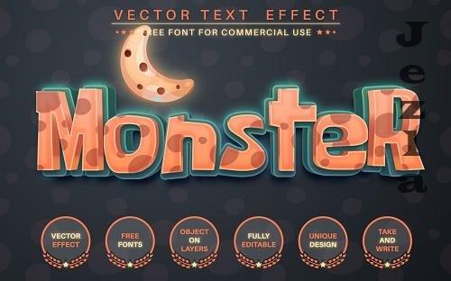 Halloween Monster - edit text effect - 6222183