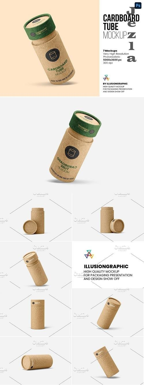 Cardboard Tube Mockup - 7 views - 6224138