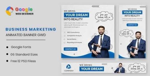 CodeCanyon - Business Marketing Animated Banner GWD v1.0 - 32587808