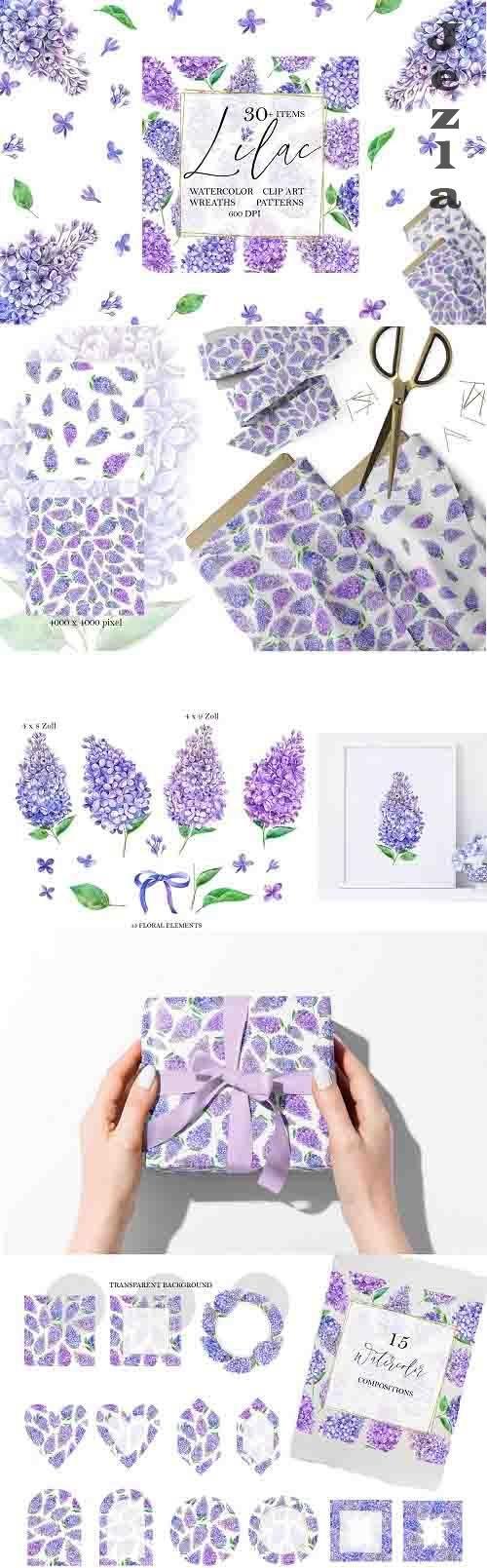 Watercolor Lilac - 1333820