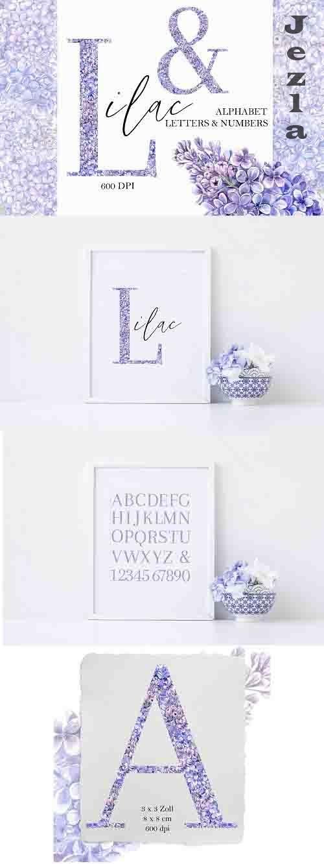 Lilac Floral Alphabet - 1343213