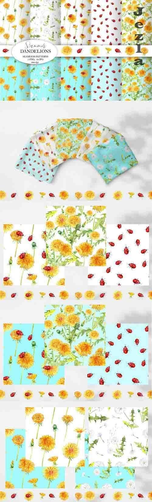 Dandelions Seamless patterns - 1370642