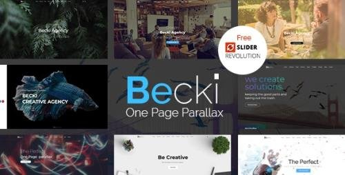 ThemeForest - Becki v1.0 - Creative Parallax One Page HTML Template (Update: 22 October 18) - 22589619