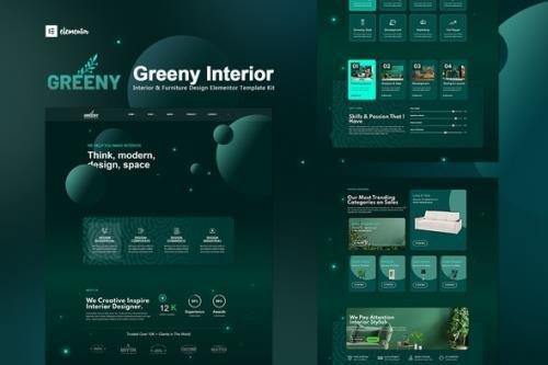 ThemeForest - Greeny v1.0.2 - Interior Elementor Template Kit - 28427043