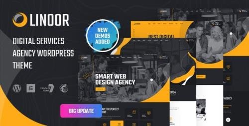 ThemeForest - Linoor v1.4.2 - Digital Agency Services WordPress Theme - 30120713
