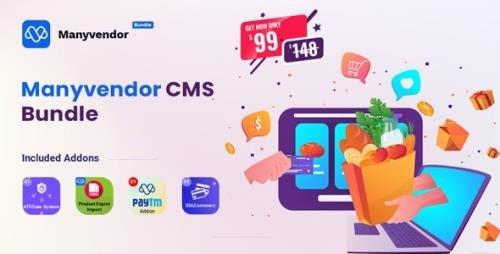 CodeCanyon - Manyvendor v1.0 - eCommerce Multi-vendor CMS Bundle - 31097745