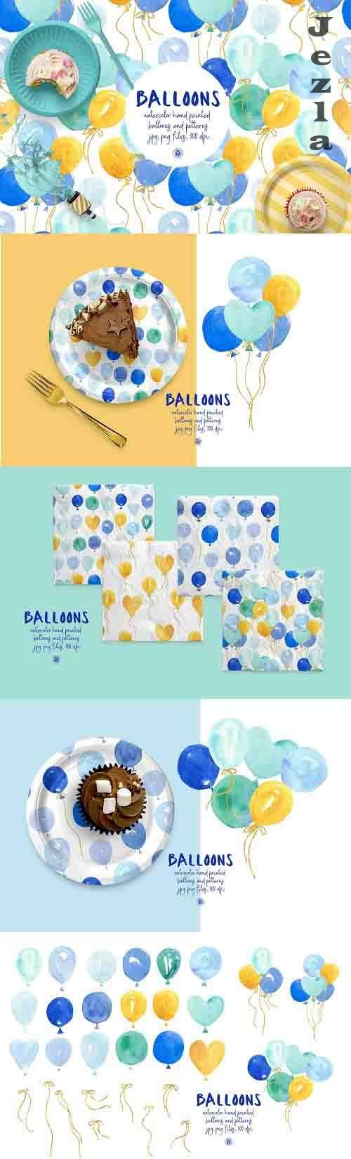 Watercolor Balloons vol 3 - 6228579