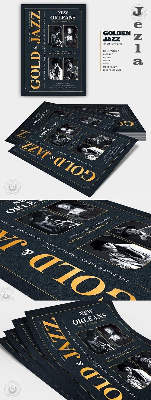 Golden Jazz Flyer Template V5 - 6233586