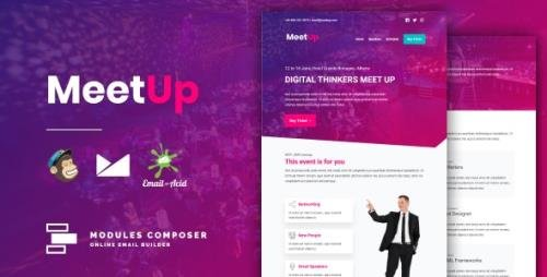 ThemeForest - Meetup v1.0 - Responsive Email for Meetups, Conferences & Events with Online Builder - 32538251