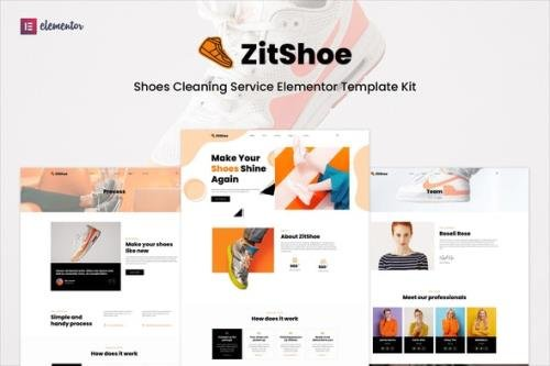 ThemeForest - Zitshoe v1.0.0 - Shoes Cleaning Service Elementor Template Kit - 32612195