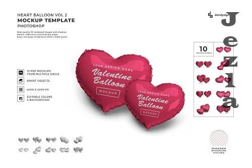 Valentine Love Heart Balloon Mockup Template Bundle 2 - 1425328