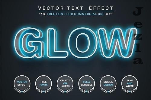 Glow stroke - editable text effect - 6235830