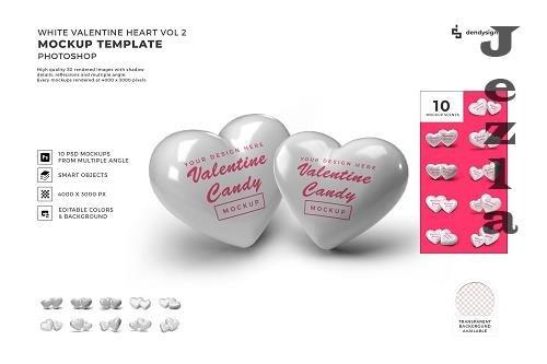 Valentine Heart Candy Mockup Template Bundle 2 - 1425345