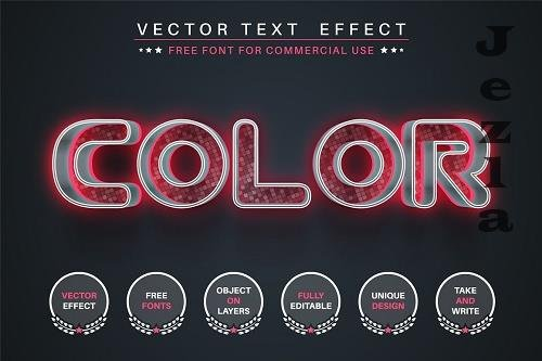 Pink color editable text effect - 6236672
