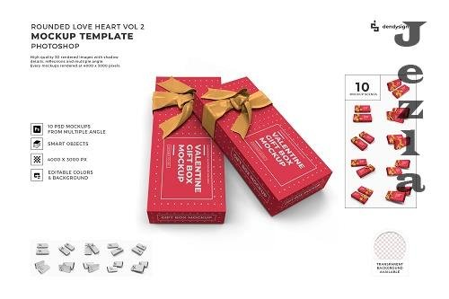 Valentine Small Gift Box Mockup Template Bundle 2 - 1425893