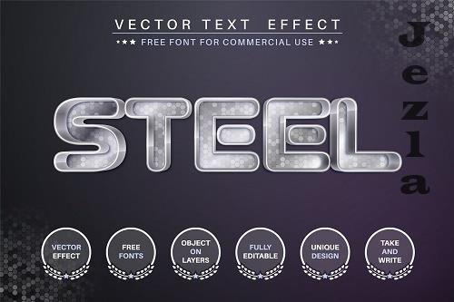 Steel editable text effect - 6236462