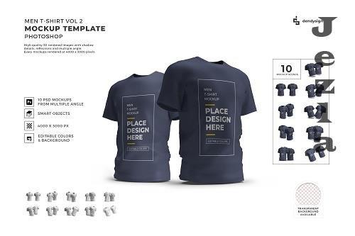 Men Tshirt Cloth Mockup Template Bundle 2 - 1408513
