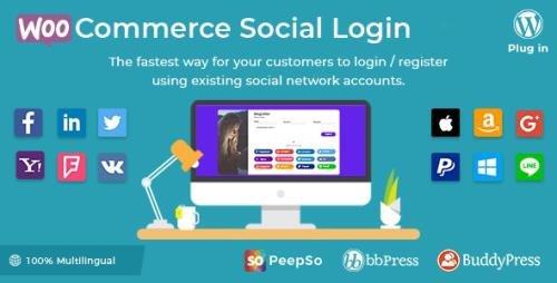 CodeCanyon - Social Login v2.3.8 - WordPress / WooCommerce Plugin - 8495883
