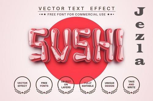 Sushi - editable text effect - 6241799
