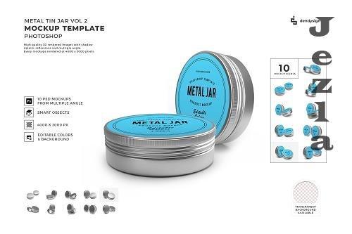 Metal Tin Can Jar Mockup Template Bundle Vol 2 - 1410868