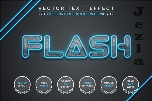 Flash glass - editable text effect - 6242202