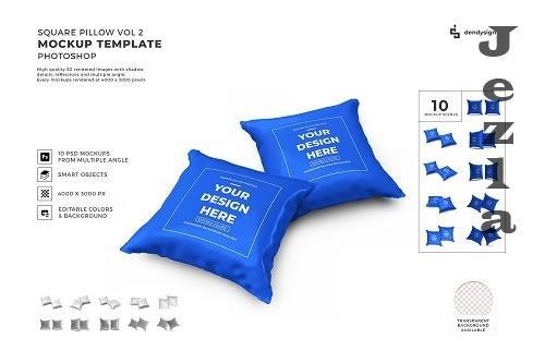 Square Pillow Mockup Template Bundle 2 - 1412739