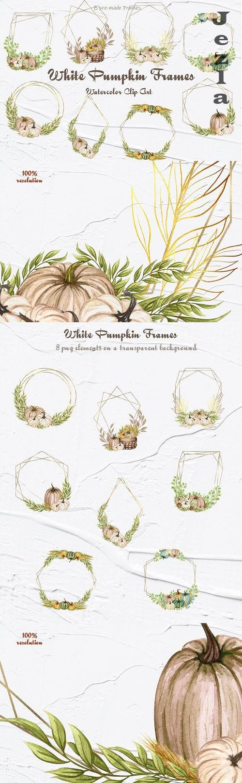 White Pumpkin Frames - 1395398