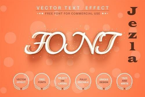 Orange - editable text effect - 6242963