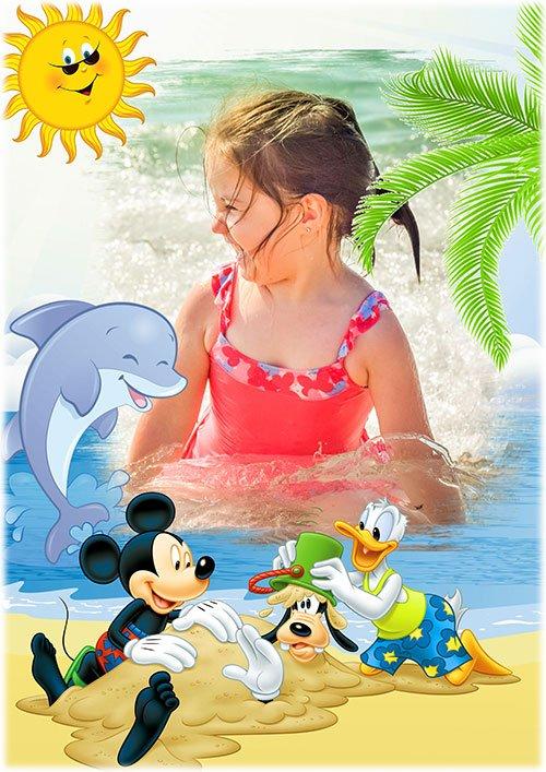 Детская рамка - Мультяшки на море
