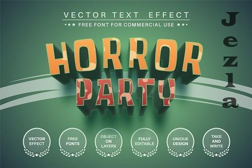Horror party - editable text effect - 6249287
