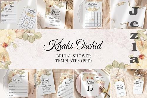 Boho Bridal Shower Templates Cards Floral Invitation Suit - 1434876