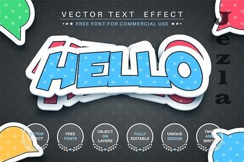 Sticker - editable text effect, font - 6251740