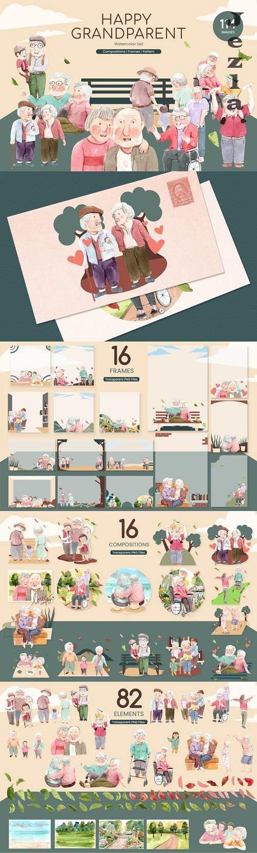 Happy Grandparent Day Watercolor - 6245886