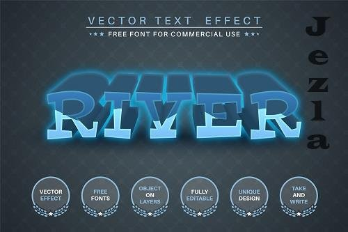 Water river - editable text effect - 6250596