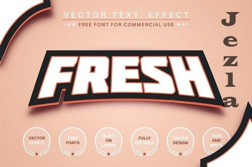 Fresh sticker - editable text effect - 6251333