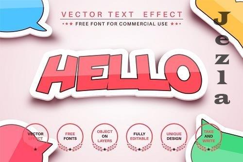 Sticker - editable text effect, font - 6251514