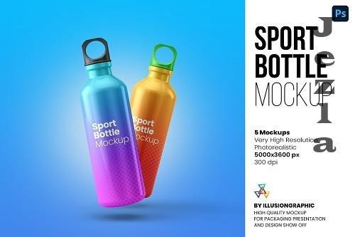 Sport Bottle Mockup - 5 views - 6250378