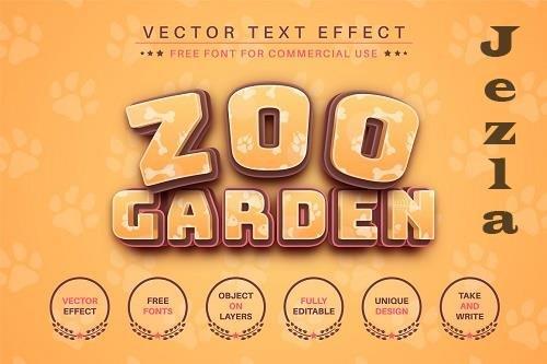 Zoo Garden - editable text effect - 6255565