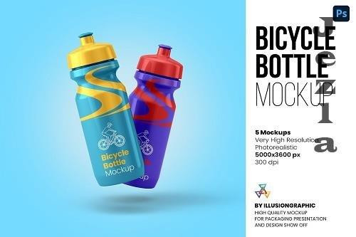 Bicycle Bottle Mockup - 5 views - 6251340