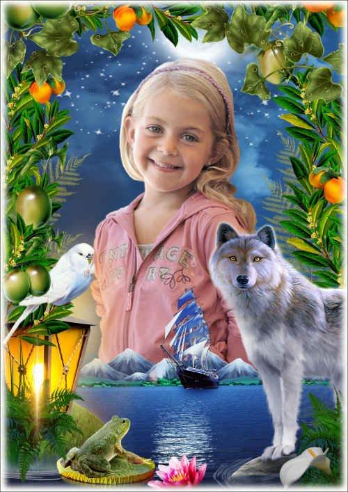 Детская рамка для фото - Хранители сказочного маяка