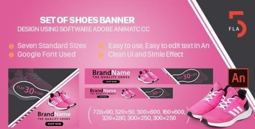 CodeCanyon - Shoes Banner Ad Animated HTML5 - Animate CC v1.0 - 32822976